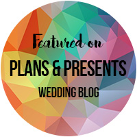 Plans & Presents Wedding Blog Badge