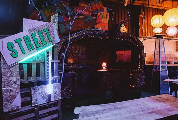 Vintage Wedding Caravan At Wedding Venue Depot Cardiff