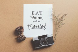 Wedding Photographer Quote - Eat Drink And Be Married!