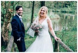Bride and Groom photographs At Llanerch Vineyard