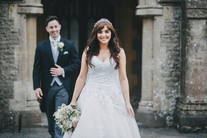 Beautiful bride at Tortworth Court