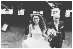 Wedding Photographer Cardiff - Bride arrives at church