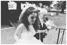 Wedding Photographer Cardiff - Bride arrives at church