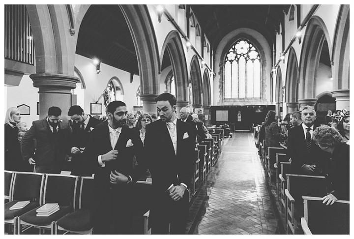 Wedding Photographer Cardiff - Groom at the altar