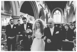 Wedding Photographer Cardiff - Groom crying when he sees his bride