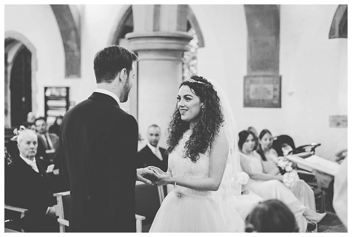 Wedding Photographer Cardiff - Couple saying their vowes