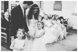 Wedding Photographer Cardiff - Couple rejoicing at the altar