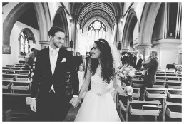 Bride & Groom leaving the church - Wedding Photographer Cardiff