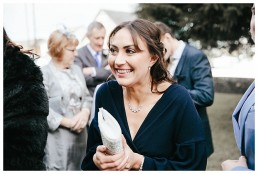 Wedding Photographer Cardiff - Wedding Guest Smiling