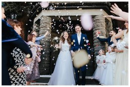 Wedding Photographer Cardiff - Confetti Shot