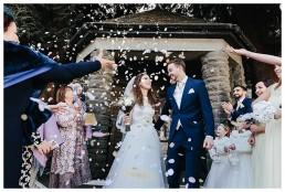 Wedding Photographer Cardiff - Confetti Shot