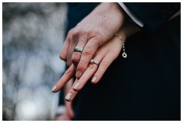 close up of the wedding rings at Cardiff wedding