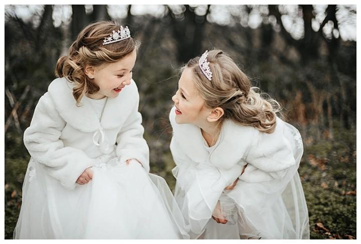 beautiful little flower girls at Cardiff wedding
