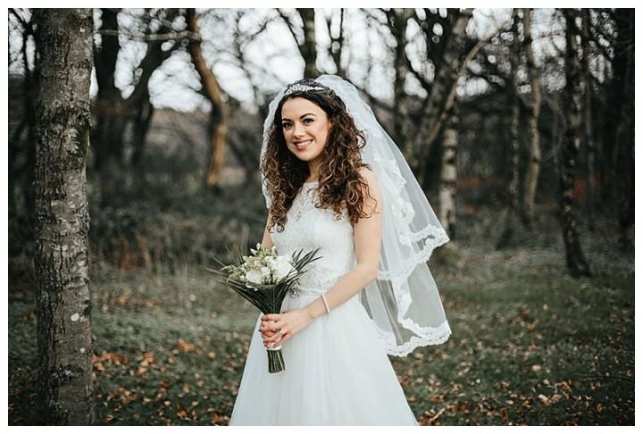 Beautiful bride in her wedding photos Cardiff
