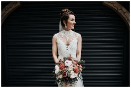 Beautiful Bride at Monmouthshire Wedding, Usk