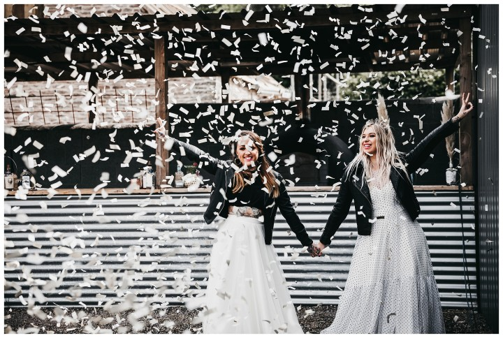 lesbian wedding at drovers rest