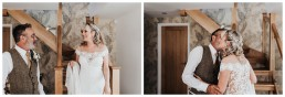father sees bride in her dress for the first time