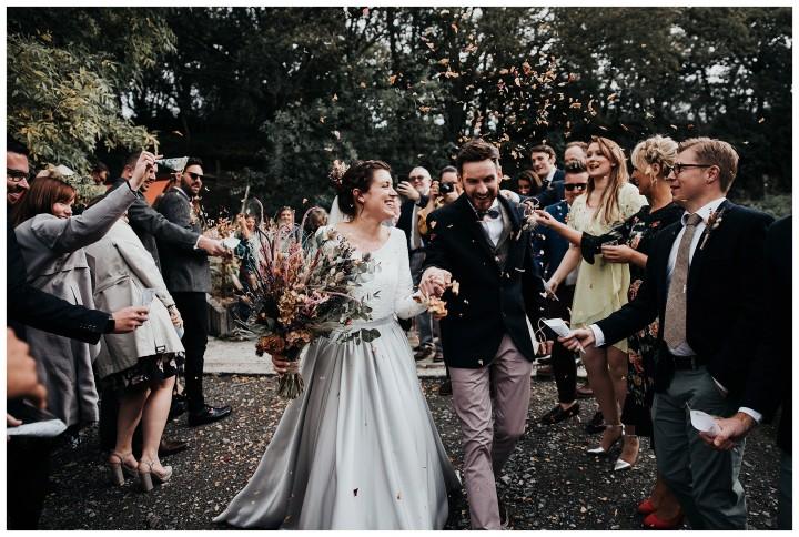 real wedding photos at fforest wedding venue camarthenshire