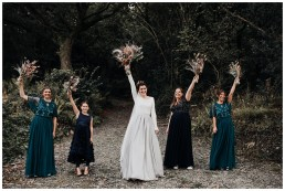 bridesmaids photograph at fforest wedding
