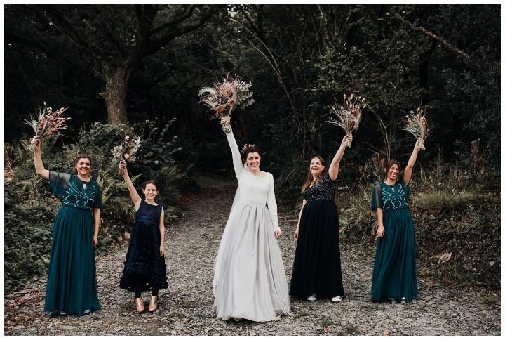 bridesmaids photograph at fforest wedding