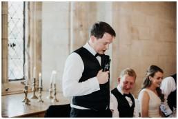 groom doing his speech