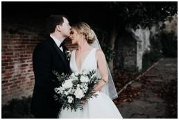 bride and groom doing their wedding photos