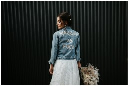 Bride wears denim at shack revolution
