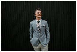 Groom in tailored suit